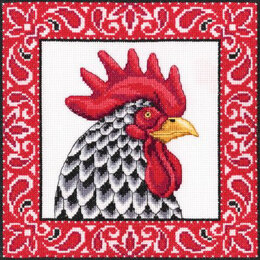 Rto Handsome Rooster Cross Stitch Kit - Multi