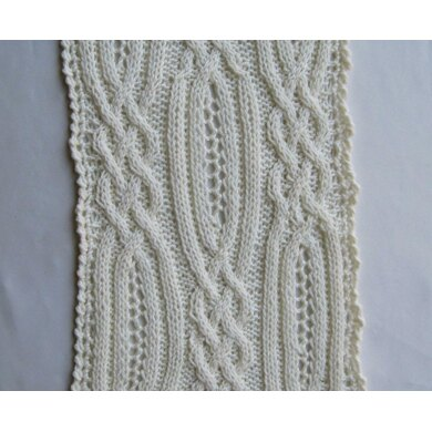 Blantrey Cable Lace Scarf