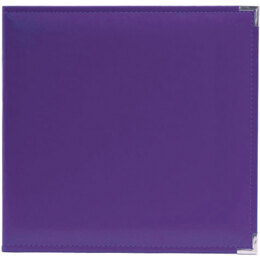 "We R Memory Keepers We R Classic Leather D-Ring Album 12""X12"" - Grape Soda"