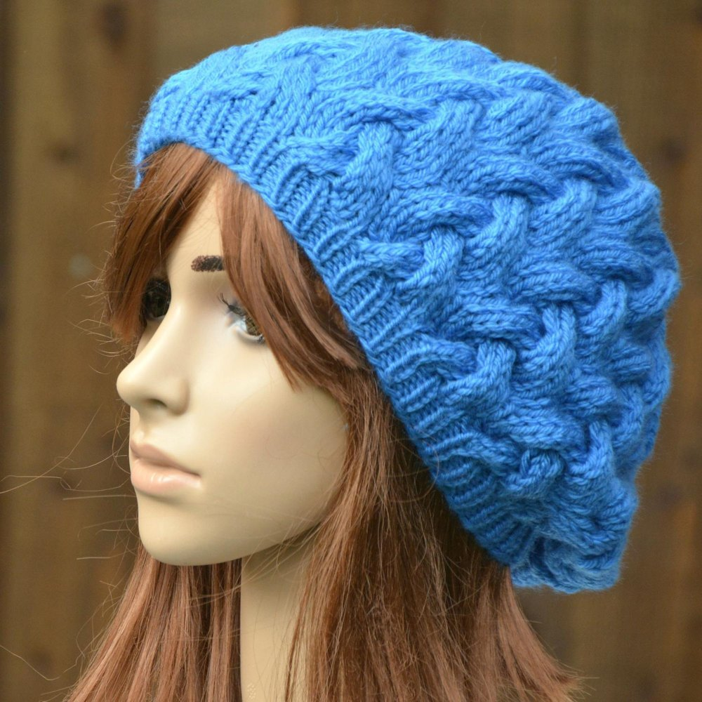 Womens Slouchy Beret KPWT04 in James C. Brett Chunky with ...
