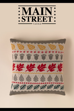 Fall Fauna Pillow Cover in Main Street Yarns Shiny + Soft - Downloadable PDF