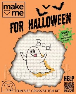 Mouseloft Make Me for Halloween - Ghost Cross Stitch Kit