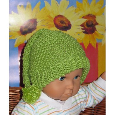Baby Moss Stitch Pixie Bobble Slouch
