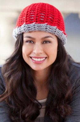 Reversing The Beanie in Red Heart Soft Solids - LW2997