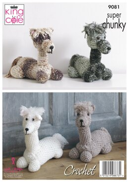 Andre The Alpaca, Stuffed Toy/ Doorstop in King Cole Big Value Super Chunky - 9081pdf - Downloadable PDF