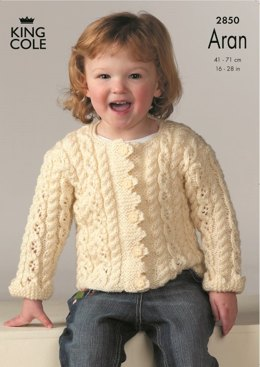 Sweater and Jacket Knitted in King Cole Fashion Aran - 2850