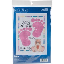 Janlynn Special Moments Mini Counted Cross Stitch Kit - Baby Footprints (14 Count)