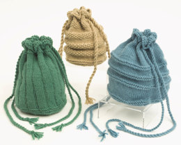Purses-3 Styles in Plymouth Encore Worsted - F171