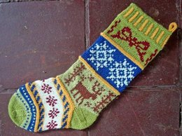 Mix-it-Up Christmas Stocking Stranded Colorwork