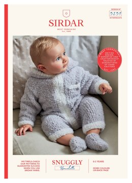 Hooded Onesie and Booties in Snuggly Bouclette in Sirdar Snuggly - 5259 - Downloadable PDF