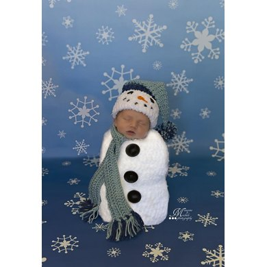 Newborn Snowman Hat Scarf And Cocoon Crochet Pattern By Amk Crochet