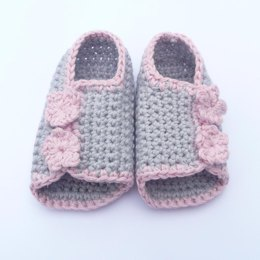 Button up Baby Peeptoe Sandals