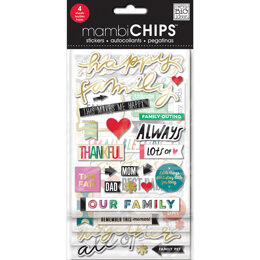 Me & My Big Ideas Chipboard Value Pack - Happy Family, 52/Pkg