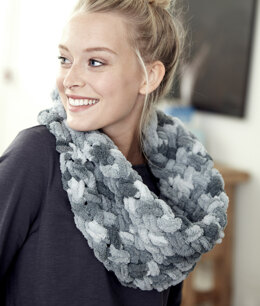Criss Cross Cowl in Bernat Alize Blanket-EZ - Downloadable PDF