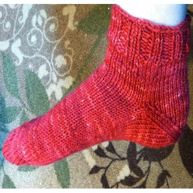 Toe-up, After-Thought, Simple Bed Sock Knitting pattern by Spinfoolish Knit...