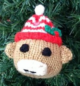 Sock Monkey Christmas Bauble
