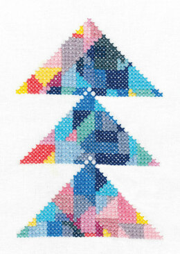 DMC Triangulation (printed fabric) Cross Stitch Kit
