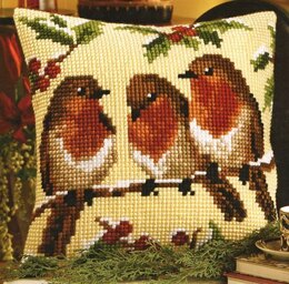 Vervaco Three's Company Cushion Front Chunky Cross Stitch Kit - 40cm x 40cm