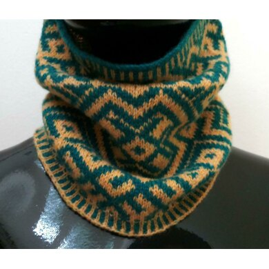 Embroidery Inspired Fair Isle Neck Warmer