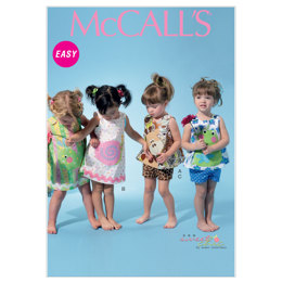 McCall's Infants' Top, Dress, Shorts and Appliqués M6541 - Sewing Pattern