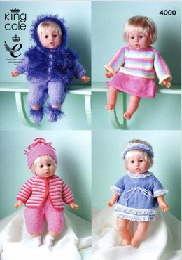 Dolls Clothes in King Cole Comfort DK - 4000
