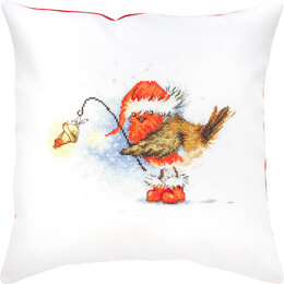 Luca-S Robin with Lamp Cushion Cross Stitch Kit