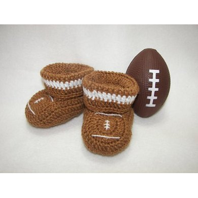 Football Baby Booties