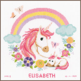 Vervaco Mother & Baby Unicorn Cross Stitch Kit