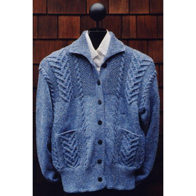 Mari Sweaters MS 138 Cabled Patch Pocket Jacket