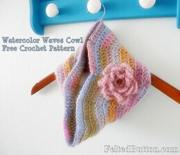Watercolor Waves Cowl