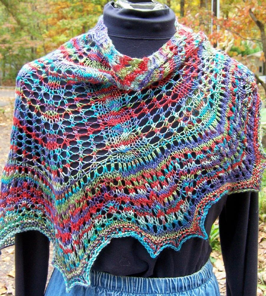 Maple Leaf Knitting Pattern : Lacy Maple Leaf shawl Knitting pattern by Mary Gildersleeve Knitting Patter...