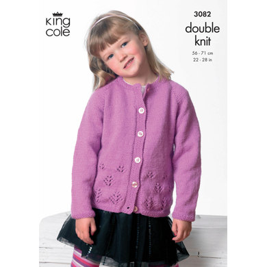 Cardigan & Sweater in King Cole Big Value DK - 3082