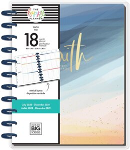 "Me & My Big Ideas Happy Planner 18-Month Dated Big Planner 8.25""X11.5"" - Happy & Kind, July 2020-Dec 2021"