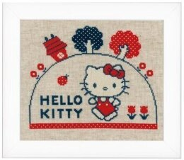 Vervaco Hello Kitty Going for a Walk Cross Stitch Kit - Multi