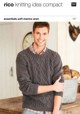 Sweaters in Rico Essentials Soft Merino Aran - 187