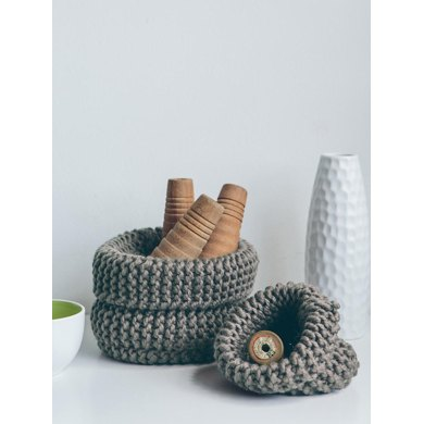 Garter Stitch Baskets