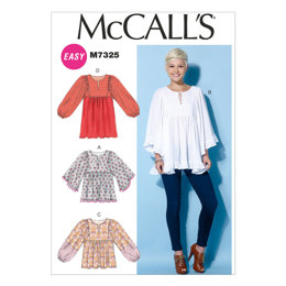 McCall's Misses' Gathered Tops and Tunic M7325 - Sewing Pattern