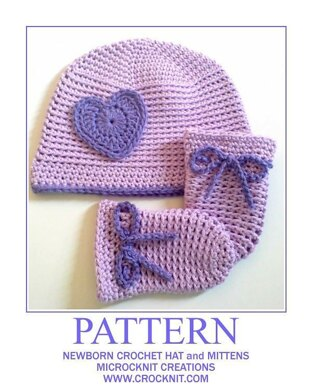Newborn Crochet Hat and Mittens SIMPLICITY
