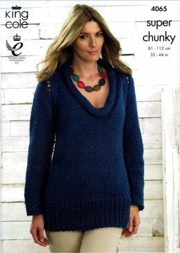 Sweater and Cardigan in King Cole Big Value Multi Chunky - 4065