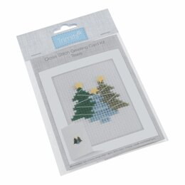 Groves Cross Stitch Kit: Card: Trees