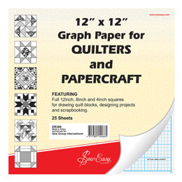 Sew Easy Quilter's Graph Paper 12 x 12in