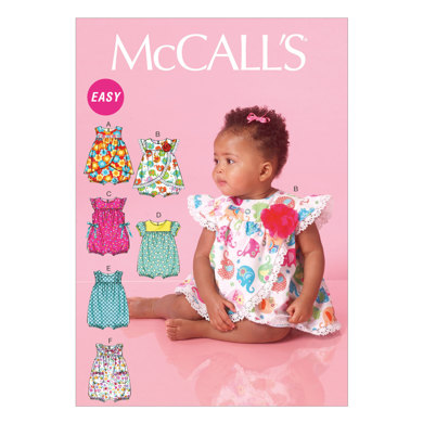 McCall's Infants' Rompers M7107 - Sewing Pattern