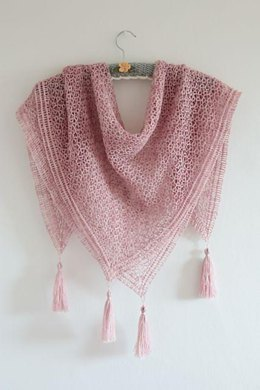 Diamonds and Tassels Shawl