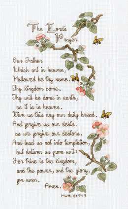 Janlynn Corporation The Lord's Prayer Cross Stitch Kit - 14cm x 25.5cm