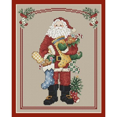 Sue Hillis Designs Stocking Santa - L235 - Leaflet