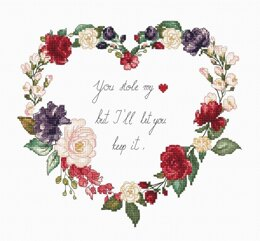 Luca-S Heart Cross Stitch Kit