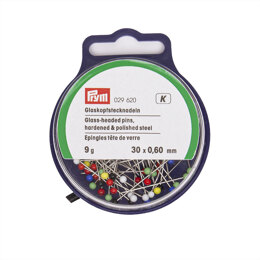 Prym Glass-Headed Pins No. 9 Assorted Colours 0.60 x 30 mm 20g