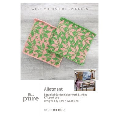 Bo Peep Pure Botanical Garden Blanket KAL - Allotment in West Yorkshire Spinners - WYSKAL01A - Downloadable PDF