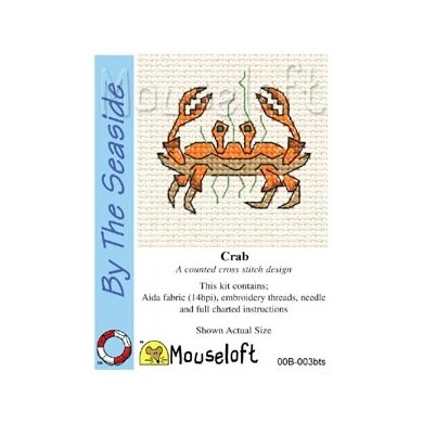 Mouseloft By the Seaside Crab Cross Stitch Kit - 64mm
