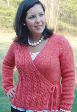 Cara Cross - Over Cardie in Knit One Crochet Too Brae Tweed - 1618